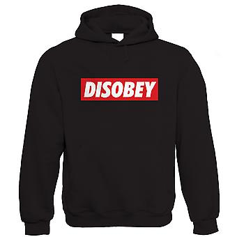 Disobey, Mens Hoodie (S to 5XL)
