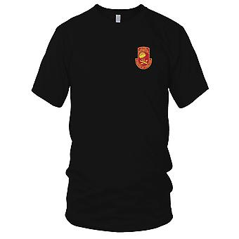 US Army - 377th Airborne Field Artillery Battalion Embroidered Patch - Mens T Shirt