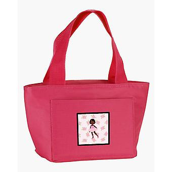 Ballerina African American Short Hair Lunch Bag