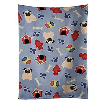 Carolines Treasures  BB2621KTWL Dog House Collection Pug Fawn Kitchen Towel