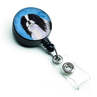 Japanese Chin  Retractable Badge Reel or ID Holder with Clip SS4743