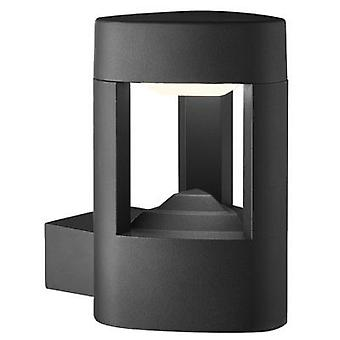 Searchlight 1 Light Outdoor Wall Light With Clear Diffuser In Grey