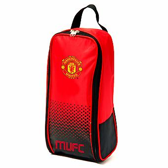 Manchester United FC Official Crest Design Fade Sports Shoe Bag