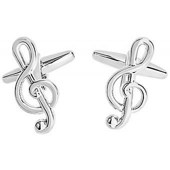 Zennor Treble Cleff Cufflinks - Silver