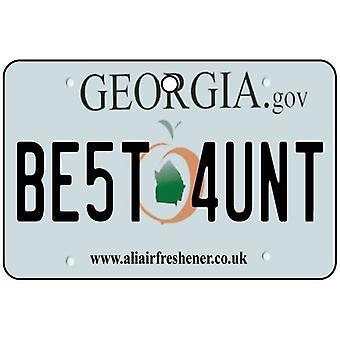 Georgia - Best Aunt License Plate Car Air Freshener