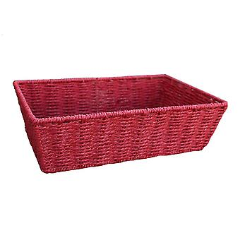 Large Red Paper Rope Tray