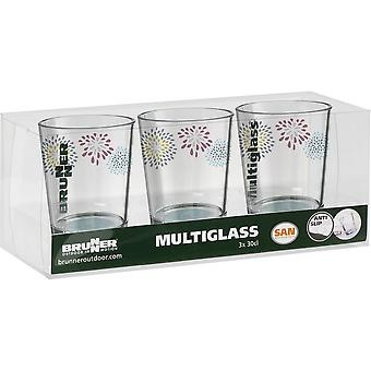 Brunner Belfiore 3 Piece Drinking Glass Set