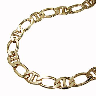 Mariner chain diamond cut gold plated 50cm necklace