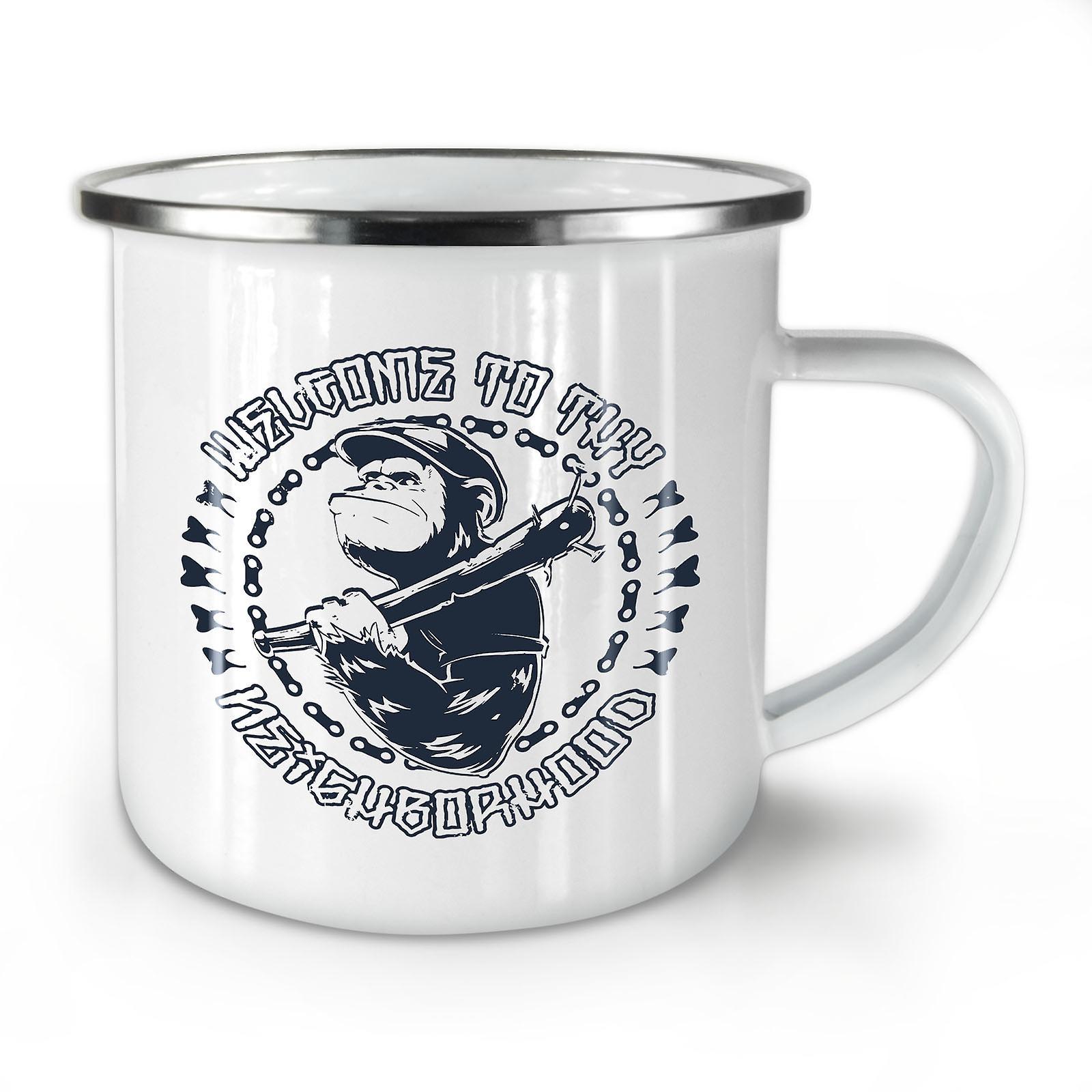 Combattant OzWellcoda Whitetea Émail Gangster Singe Café Nouveau Mug10 UMzSpVGq