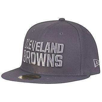 ニューエラ 59 fifty キャップ - グラファイト クリーブランド ・ ブラウンズ