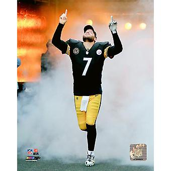 Ben Roethlisberger 2017 Action Photo Print