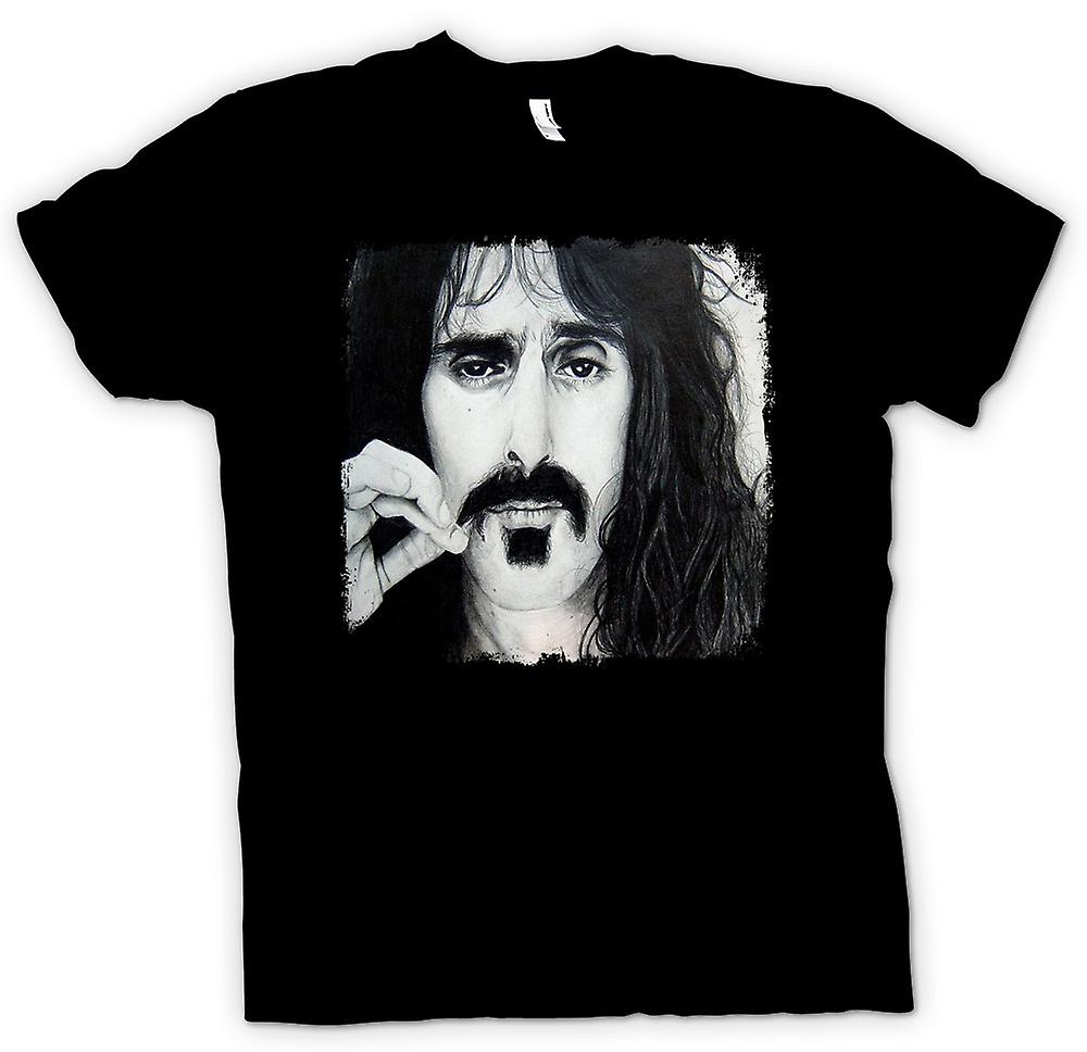 Mens T-shirt - Frank Zappa - Portrait Sketch