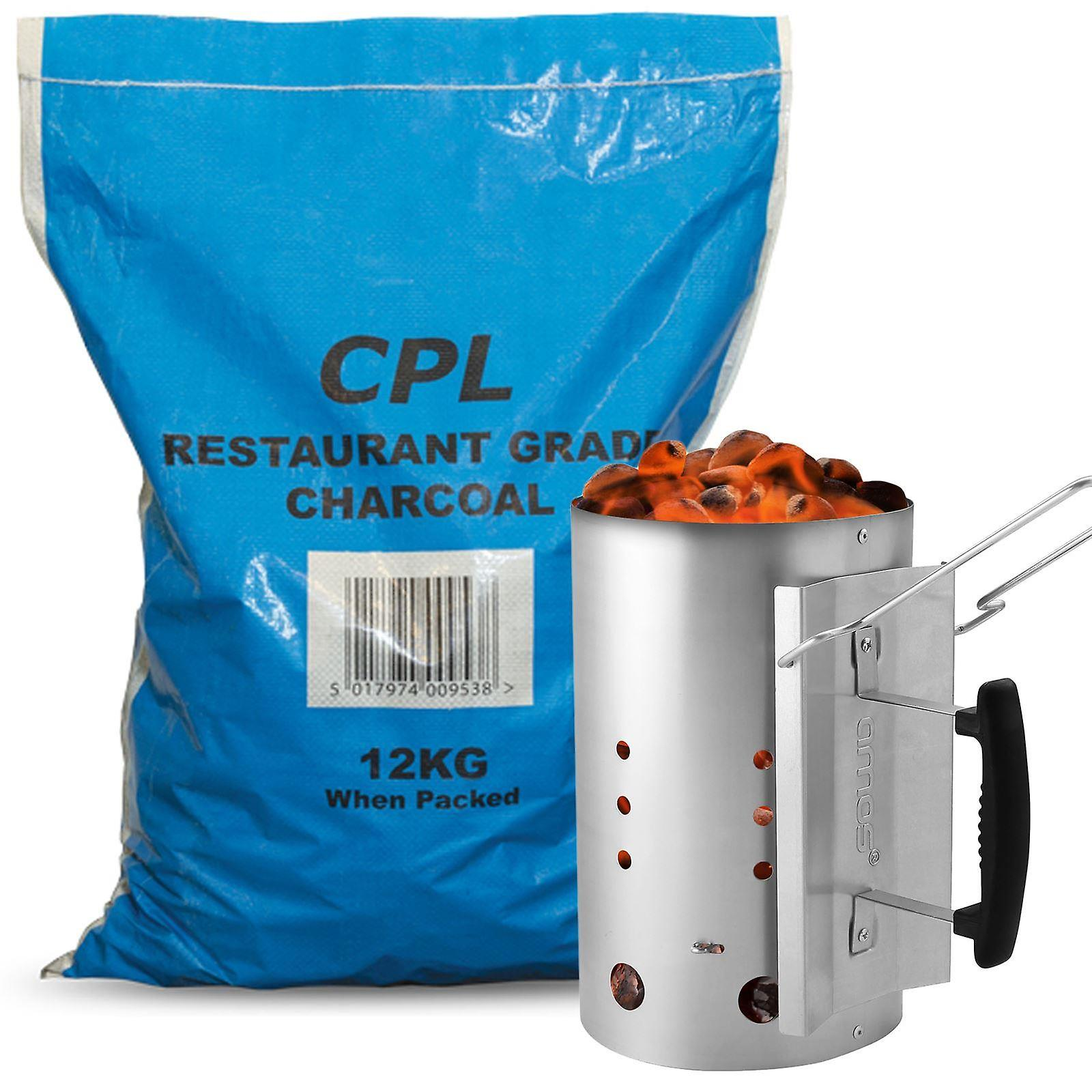 AMOS Chimney Starter (Large) wtih Charcoal 12kg