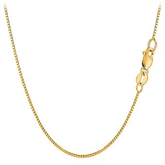 18k Yellow Gold Classic Mirror Box Chain Necklace, 0.8mm