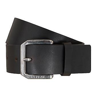 REPLAY belt leather belts men's belts jeans belt dark brown 5107