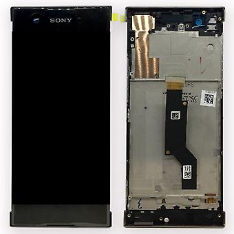 Sony display LCD complete unit with frame for Xperia XA1 and dual black spare parts
