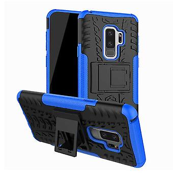 Hybrid case 2 stuk SWL buiten blauw voor Samsung Galaxy S9 G960F tas cover