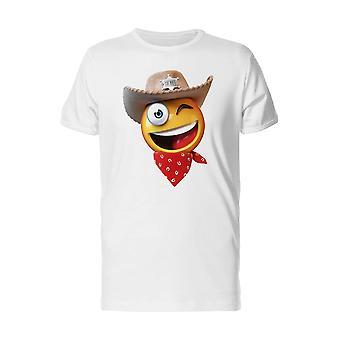 Funny & Happy Sheriff Emoji Tee Men's -Image by Shutterstock