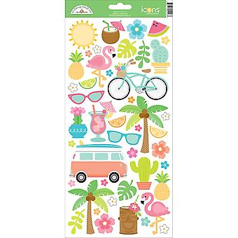 Fun In The Sun Cardstock Stickers 6