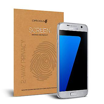 Celicious Privacy 2-Way Anti-Spy Filter Screen Protector Film Compatible with Samsung Galaxy S7
