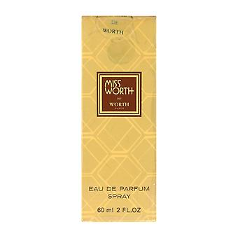 Worth Miss Worth Eau De Parfum Spray 2.0Oz/60ml In Box (Vintage)