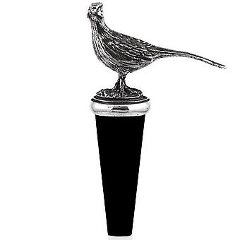 Pheasant Pewter Bottle Stopper