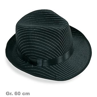 Hat Pinstripe mafia gangster mens Hat