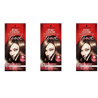 Schwarzkopf 3 X Poly Color Tint - Natural Light Brown 39