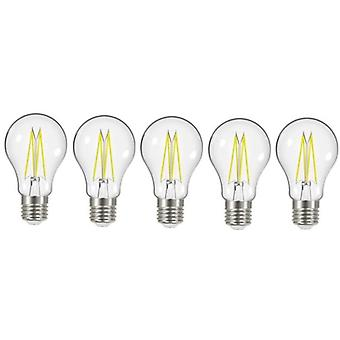 5 X Energizer 8W = 75W LED Filament GLS Light Bulb Lamp Vintage ES E27 Clear Edison Screw [Energy Class A+]