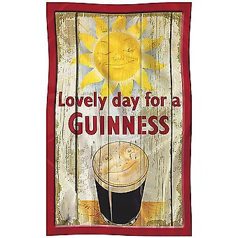 Guinness Sun / Smiling Face Cotton Tea Towel 700Mm X 450Mm