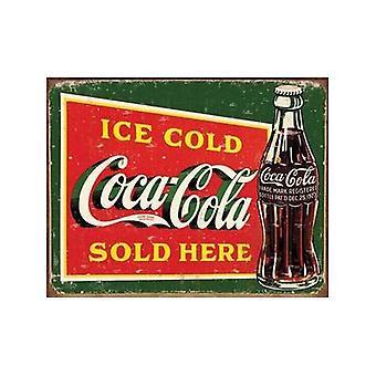 Coca Cola is kold flaske (Pers) stål væg tegn