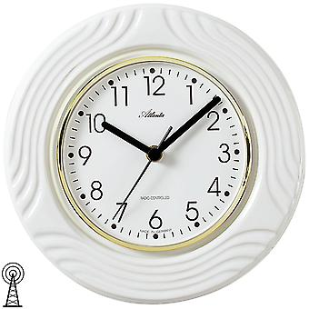 Atlanta 6020 kitchen clock wall clock kitchen radio radio controlled wall clock analog white ceramic