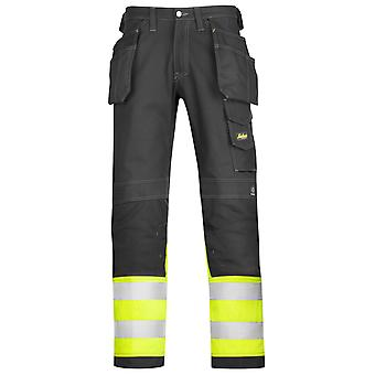 Snickers Hi Vis Cotton Trousers with Kneepad & Holster Pockets. Class 1 - 3235