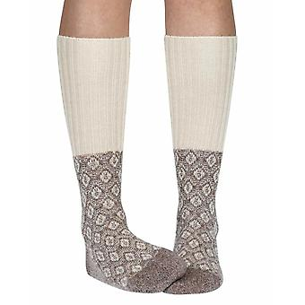 Sorrel women's warm wool knee-high socks in oatmeal | By Scott-Nichol