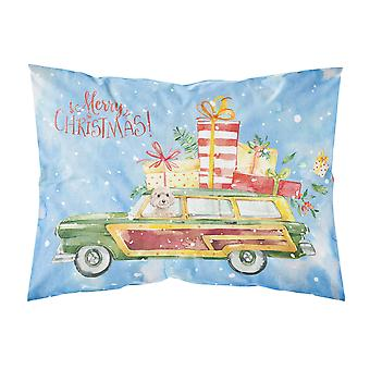 Merry Christmas Champagne Cockapoo Fabric Standard Pillowcase
