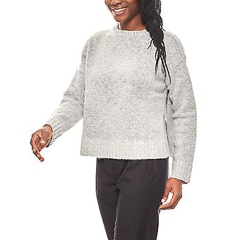 Aniston of soft rib knit sweater with dropped shoulders gray