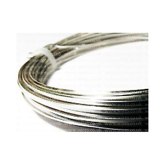 1 x Silver Plated Copper 0.8mm x 6m Square Craft Wire Coil W6080