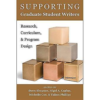 Supporto studente laureato scrittori: Ricerca, Curriculum e programma di progettazione