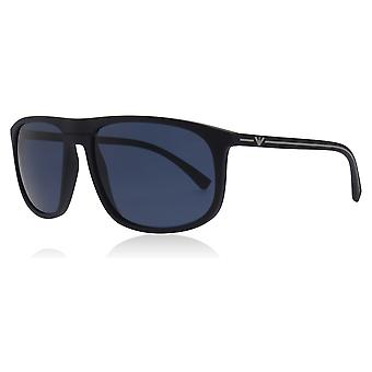 Emporio Armani EA4118 569280 Blue Rubber EA4118 Square Sunglasses Lens Category 3 Size 59mm