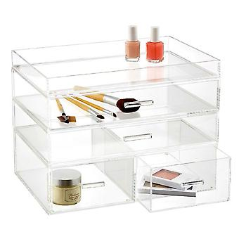 OnDisplay 4 Tier Londen acryl cosmetische/make-up organisator