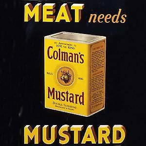 Colmans Mustard drinks mat / coaster