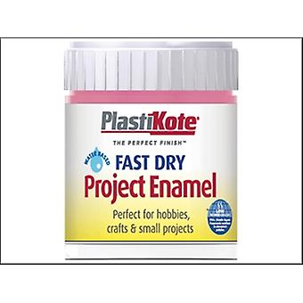 Plasti-kote Fast Dry Enamel Paint B14 Bottle Hot Pink 59ml