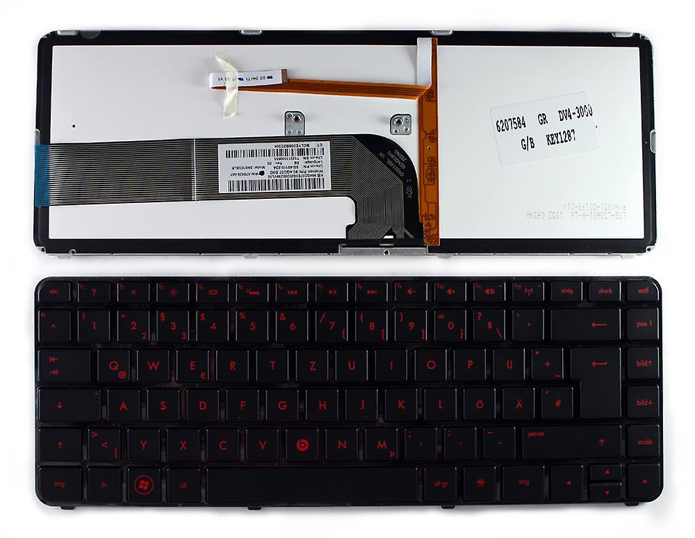HP PAVILION DV4-4260LA cadre noir brillant rétro-éclairé noir allehommed Layout remplaceHommest clavier d'ordinateur portable