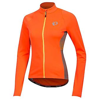 Pearl Izumi Fiery Coral Diffuse Select Pursuit Thermal Womens Long Sleeved Cycli