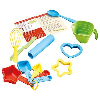 Green Toys Children's Bake by Shape Uniquely Shaped Measuring Spoons Baking
