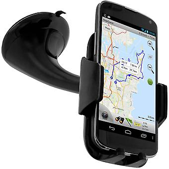 Black Rotary Car Holder for Smartphone - Suction Cup Mount