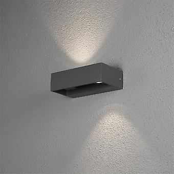 KONSTSMIDE 7858 Monza moderna in alluminio LED Light Outdoor Wall