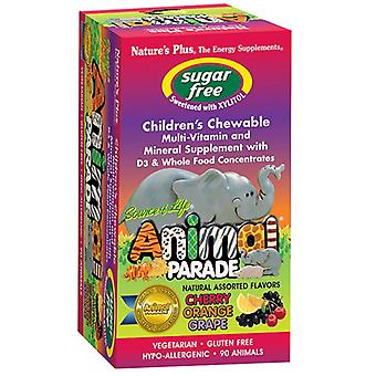 Nature's Plus Source of Life Animal Parade Sugar Free Assorted Flavour Chewables 90 (29918)