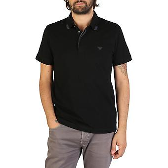 Emporio Armani Men Black Polo -- 9P46550384