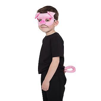 Schwein Set (Maske + Schwanz)